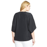 MICHAEL Michael Kors Jeweled Neckline Batwing Plus Size Top - Your Glam Style - 3
