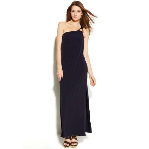 MICHAEL Michael Kors One-Shoulder Hardware Maxi Dress - Your Glam Style - 3