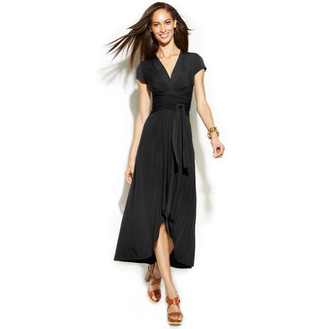 MICHAEL Michael Kors High-Low Faux Wrap Maxi Dress - Your Glam Style - 1