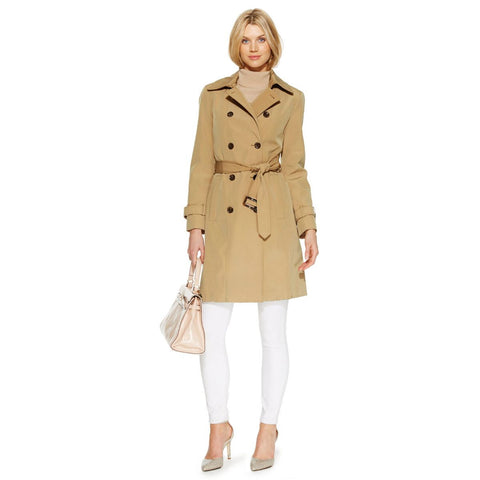 Calvin Klein Belted Double-Breasted Trench Coat - Your Glam Style - 1