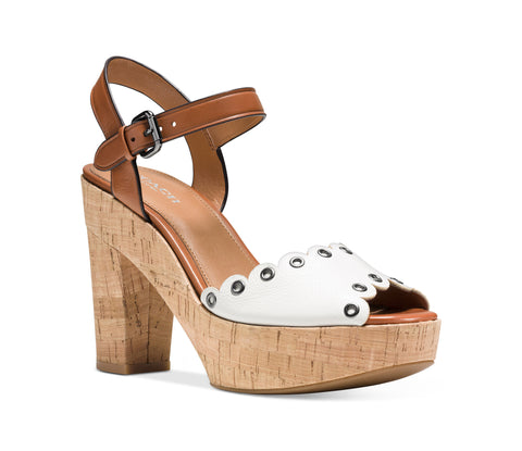 Coach April Leather Platform Sandals