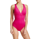 La Blanca Island Goddess Cross-Back One-Piece Swimsuit