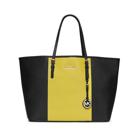 MICHAEL Michael Kors Jet Set Saffiano Leather Colorblock Tote Handbag - Your Glam Style - 1