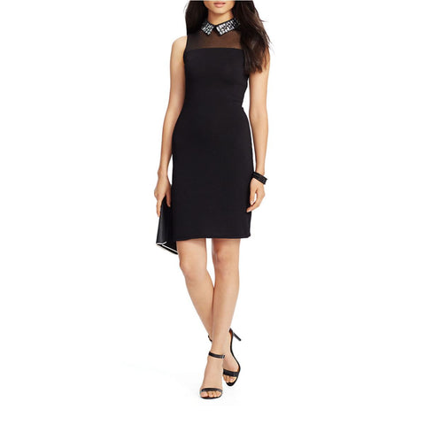 Lauren Ralph Lauren Jeweled Collar Sheath Dress - Your Glam Style - 1