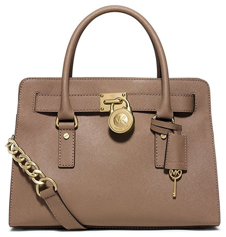 MICHAEL Michael Kors Hamilton Large East West Leather Satchel