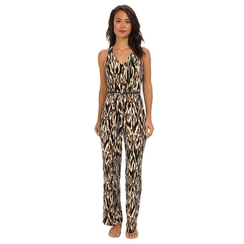 Calvin Klein Animal Print Belted Jumpsuit - Your Glam Style - 5
