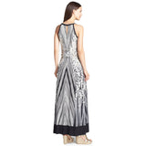 Calvin Klein Animal Print Hardware Embellished Maxi Dress - Your Glam Style - 2