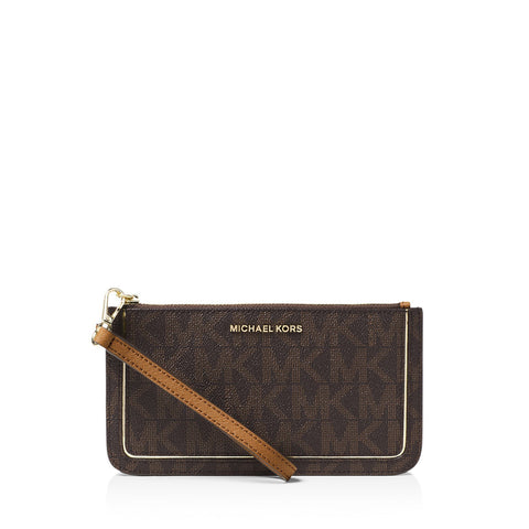 MICHAEL Michael Kors Frame Out Medium Signature Wristlet