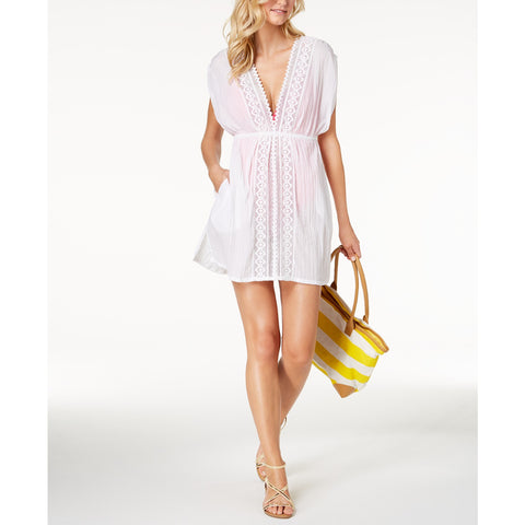 Lauren Ralph Lauren Cotton Lace-Trim Swim Cover-Up
