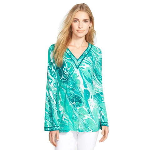 MICHAEL Michael Kors Rainwater Print V-Neck Tunic - Your Glam Style - 4