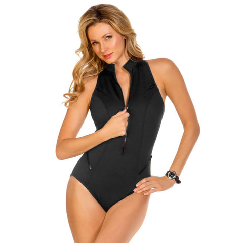 Magicsuit Laguna Beach Coco Zip Front One-Piece Swimsuit - Your Glam Style - 1