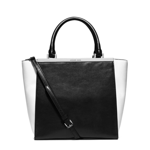be6990d56b05c5 MICHAEL Michael Kors Lana Medium Colorblock Leather Tote Handbag – Your  Glam Style