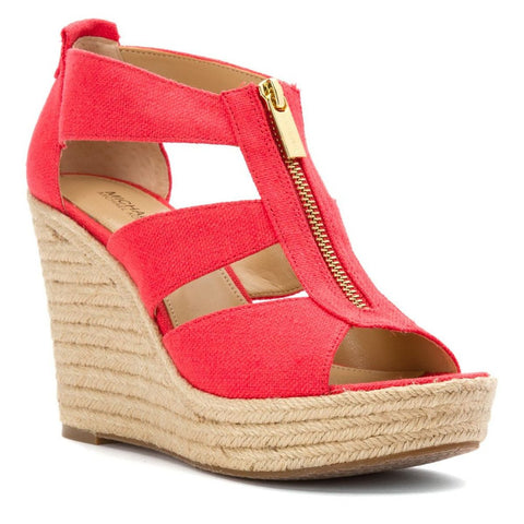 "MICHAEL Michael Kors ""Damita"" Peep-toe T-Strap Espadrille Wedges - Your Glam Style - 1"