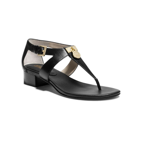 MICHAEL Michael Kors Hamilton T-Strap Leather Sandals - Your Glam Style - 1