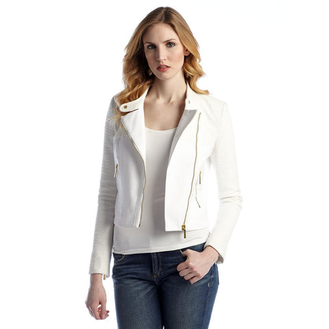 MICHAEL Michael Kors Mixed Media Moto Jacket - Your Glam Style - 1