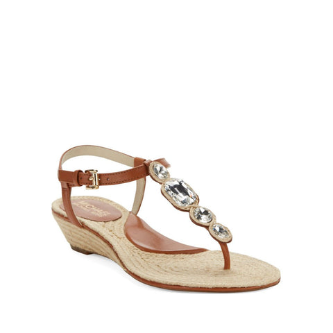 MICHAEL Michael Kors Embellished Wedge Thong Sandals