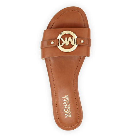 "MICHAEL Michael Kors ""Molly"" Leather Slide Sandals - Your Glam Style - 1"