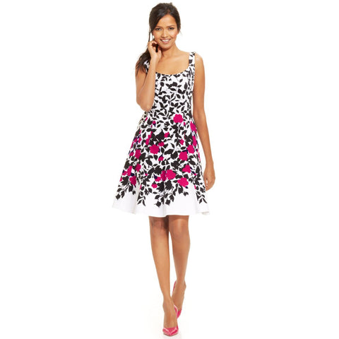 Nine West Blooming Vines Fit-n-Flare Dress - Your Glam Style - 1