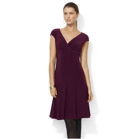 Lauren Ralph Lauren Cap Sleeve Paneled Skirt Dress - Your Glam Style - 1