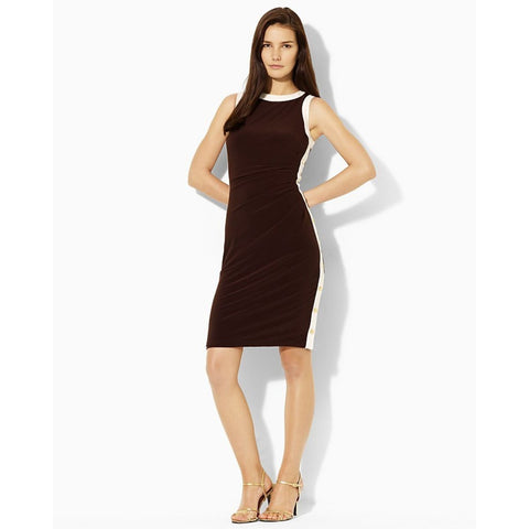 "Lauren Ralph Lauren ""Arnez"" Pleated Colorblock Sheath Dress - Your Glam Style"