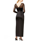 Tahari ASL Beaded Illusion Neckline Satin Gown - Your Glam Style - 2