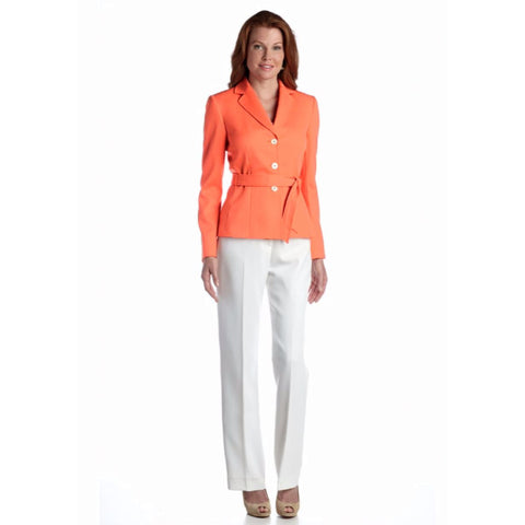 Tahari ASL Belted Colorblocked Pantsuit - Your Glam Style - 1