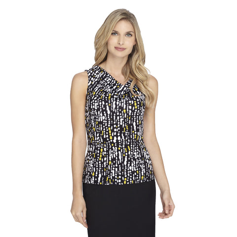 Tahari ASL Printed Sleeveless Top