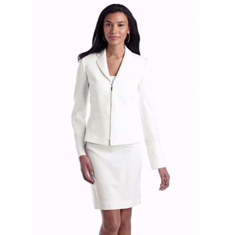 Tahari ASL Zip-Front Notch Collar Skirt Suit - Your Glam Style - 3