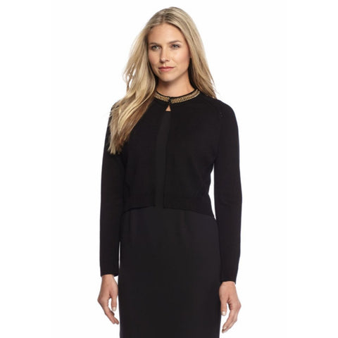 Calvin Klein Chain Neck Long Sleeve Shrug - Your Glam Style - 1