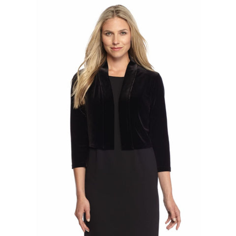 Calvin Klein Three Quarter Sleeve Velvet Shrug - Your Glam Style - 1