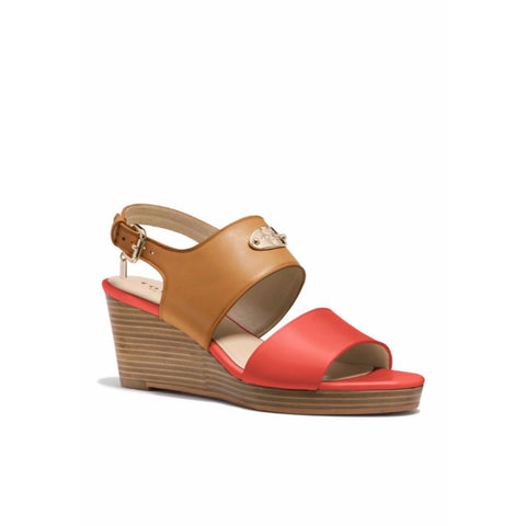 COACH Hendrick Leather Wedge Sandals - Your Glam Style