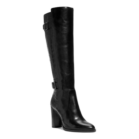 "MICHAEL Michael Kors ""Cidney"" Crocodile-Pattern Double-Buckle Leather Boots - Your Glam Style - 1"
