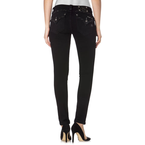 Miss Me Embellished Flap Pocket Skinny Jeans