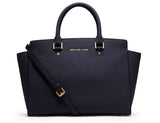 MICHAEL Michael Kors Selma Top-Zip Large Satchel Handbag - Your Glam Style - 1