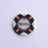 Bitcoin Chip, 100K Bits, Roll of Twenty