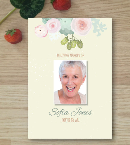Pastel Pretty Funeral Booklet