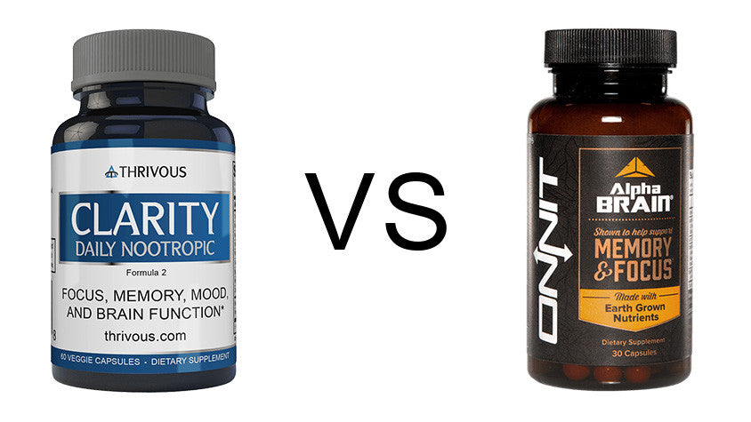 Thrivous Clarity vs Onnit Alpha Brain