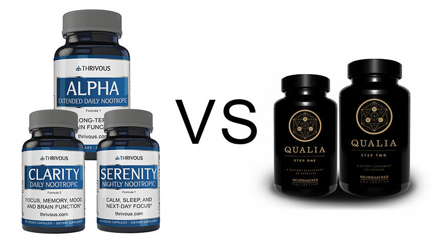 Thrivous Nootropic Stack vs Neurohacker Collective Qualia