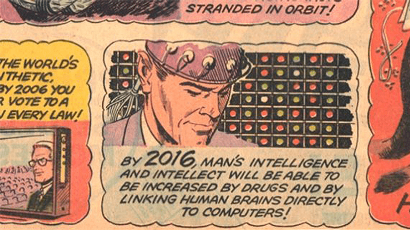 Our New Age comic strip, smart drugs, and brain computer interfaces