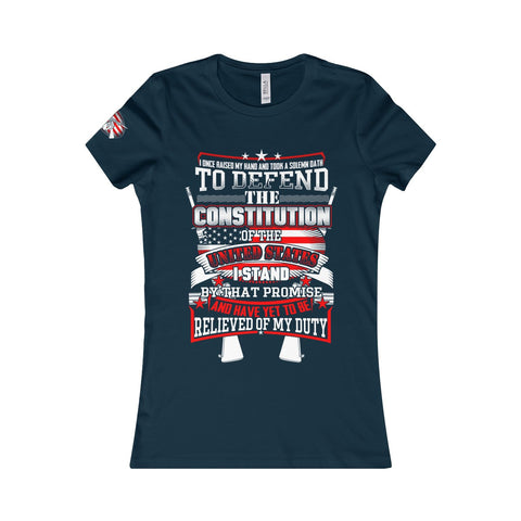 I took a solemn oath. Women's Favorite Tee