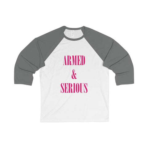 Armed & Serious V4 Unisex 3/4 Sleeve Baseball Tee
