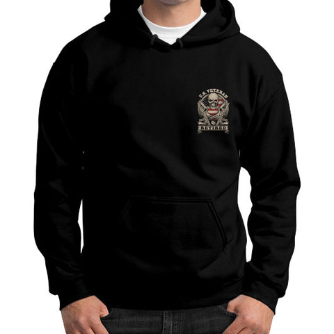 Gildan Hoodie (on man) Black THATSTICKER.COM