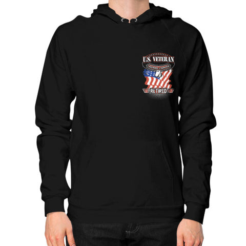 Hoodie (on man) Black THATSTICKER.COM