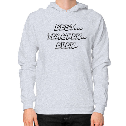 Hoodie (on man) Heather grey THATSTICKER.COM