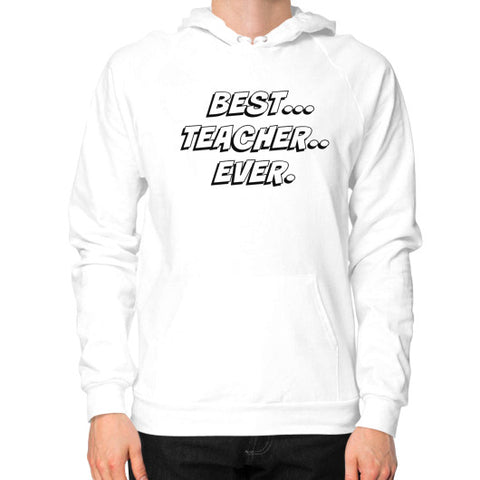 Hoodie (on man) White THATSTICKER.COM