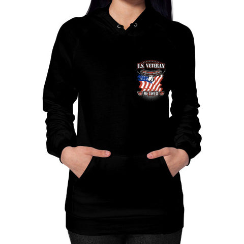Hoodie (on woman) Black THATSTICKER.COM