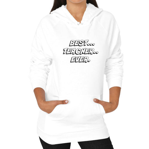 Hoodie (on woman) White THATSTICKER.COM