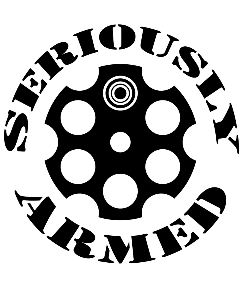"A Seriously Armed Vinyl Decal 5"" or 10"""