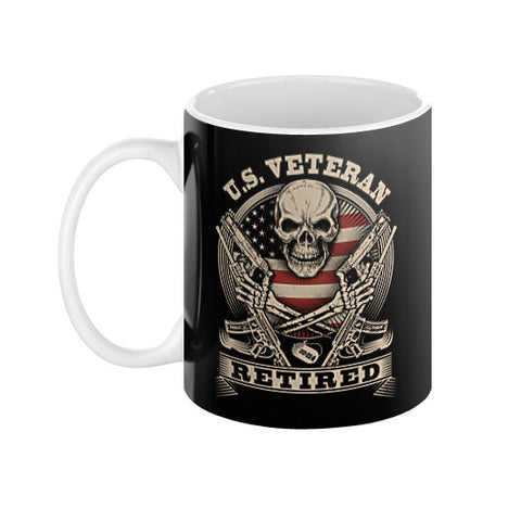 US Veteran Retired Coffee Mug  THATSTICKER.COM
