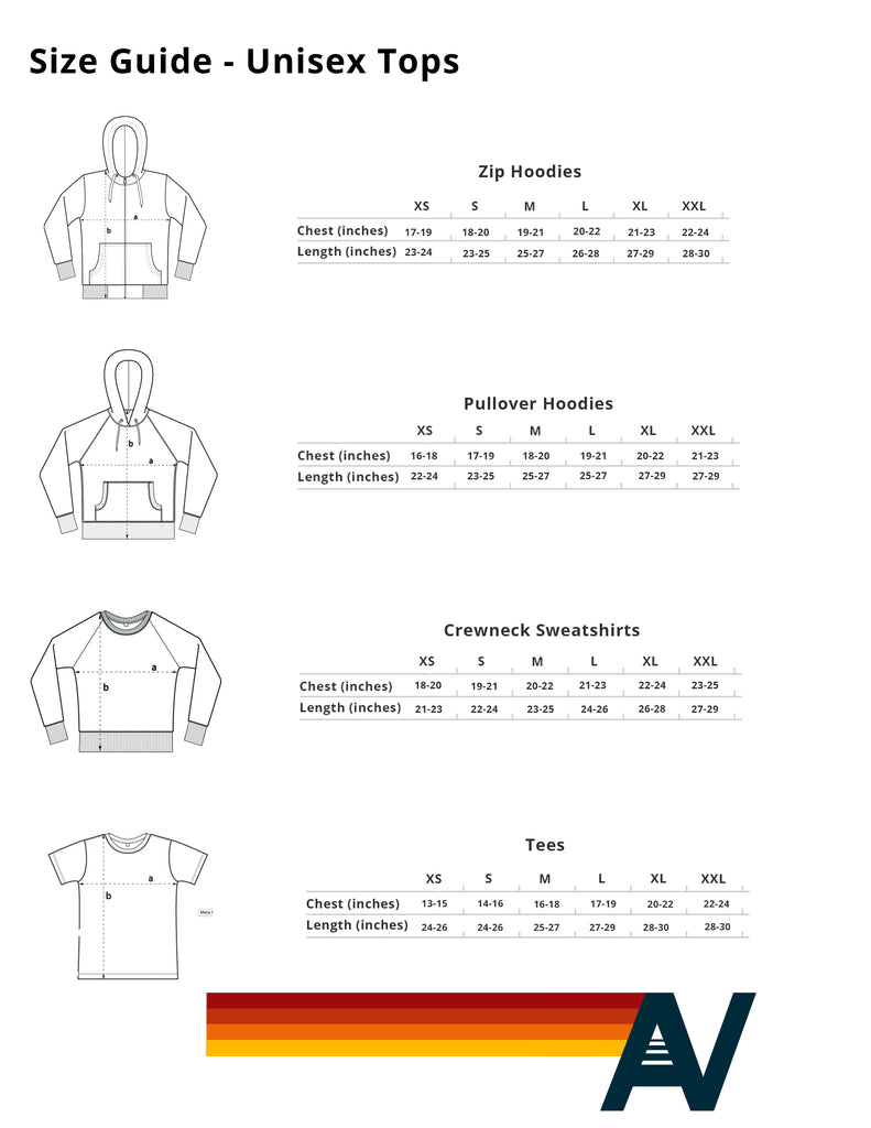 eafc8360ec Fit Guide - Tops - Aviator Nation